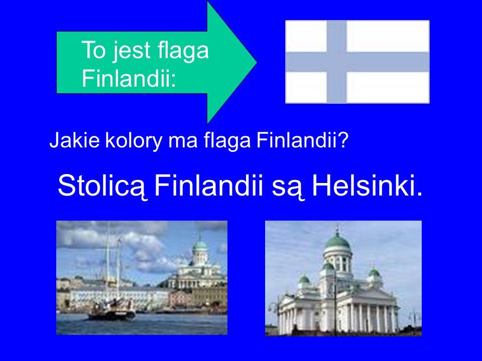 To jest flaga Finlandii: Jakie kolory ma flaga Finlandii? Stolicą Finlandii są Helsinki.