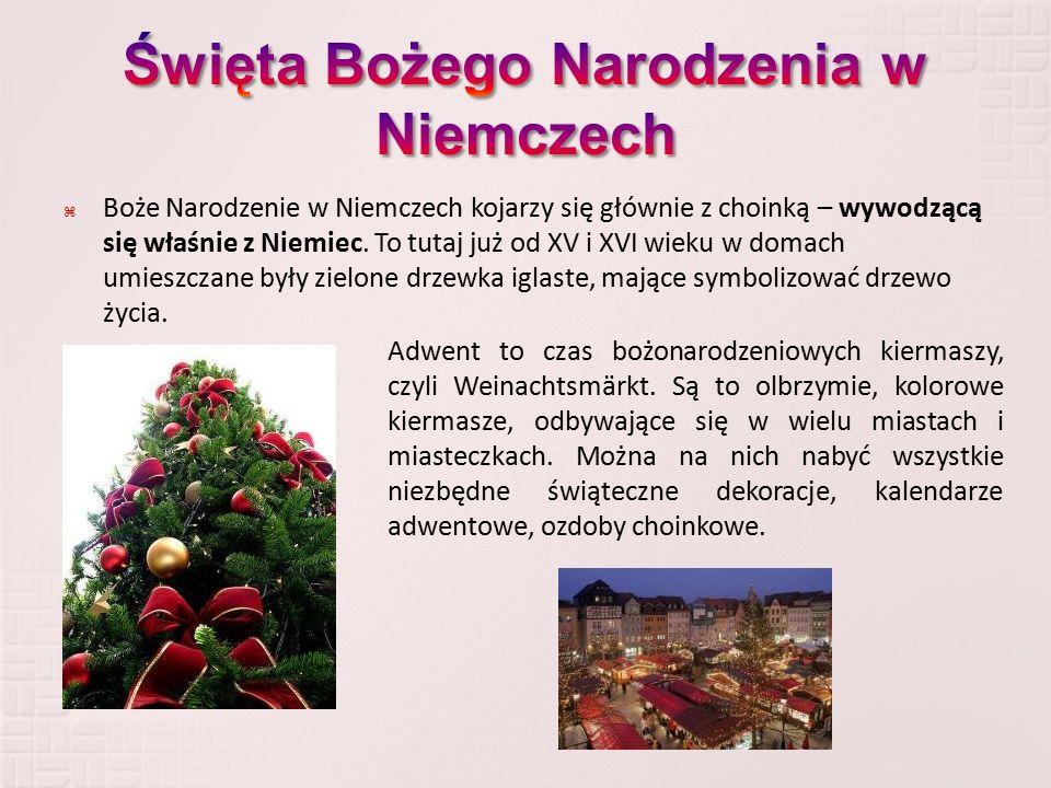  Boże Narodzenie w Niemczech kojarzy się głównie z choinką – wywodzącą się właśnie z Niemiec. To tutaj już od XV i XVI wieku w domach umieszczane był