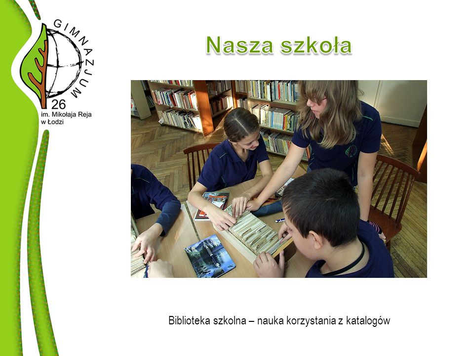 Biblioteka szkolna – nauka korzystania z katalogów