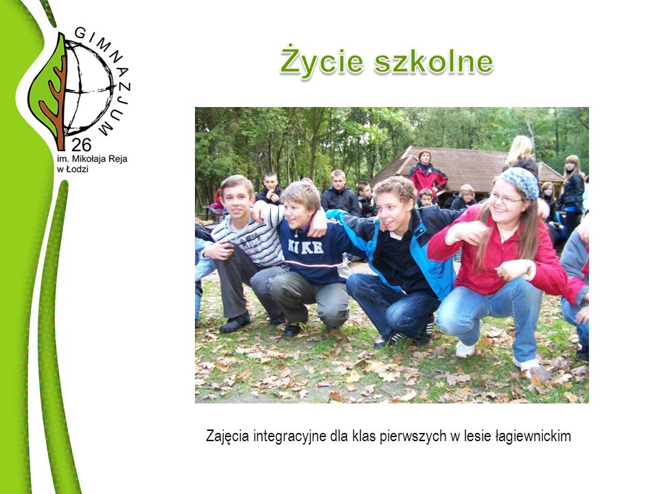 Zajęcia integracyjne dla klas pierwszych w lesie łagiewnickim
