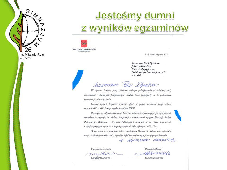 Otrzymaliśmy ten zaszczytny tytuł od Ministra Edukacji Narodowej.