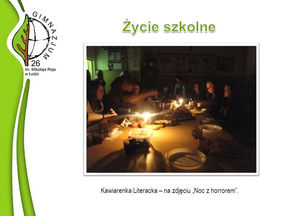 """Kawiarenka Literacka – na zdjęciu """"Noc z horrorem ."""