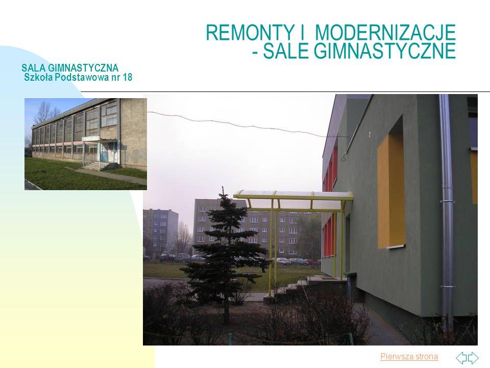 Pierwsza strona REMONTY I MODERNIZACJE - SALE GIMNASTYCZNE SALA GIMNASTYCZNA Szkoła Podstawowa nr 18