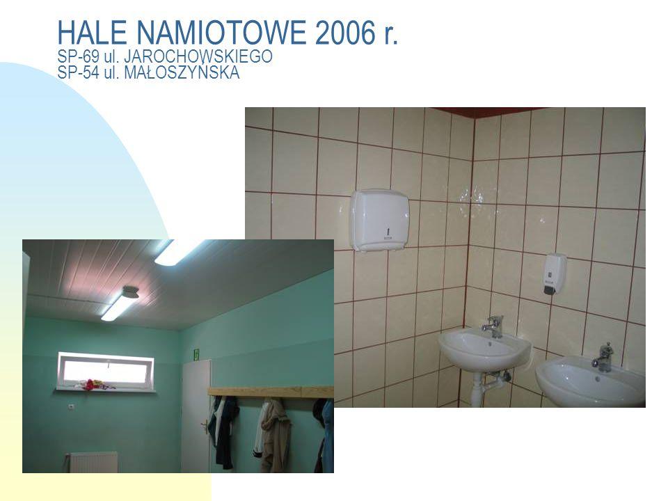 HALE NAMIOTOWE 2006 r. SP-69 ul. JAROCHOWSKIEGO SP-54 ul. MAŁOSZYŃSKA