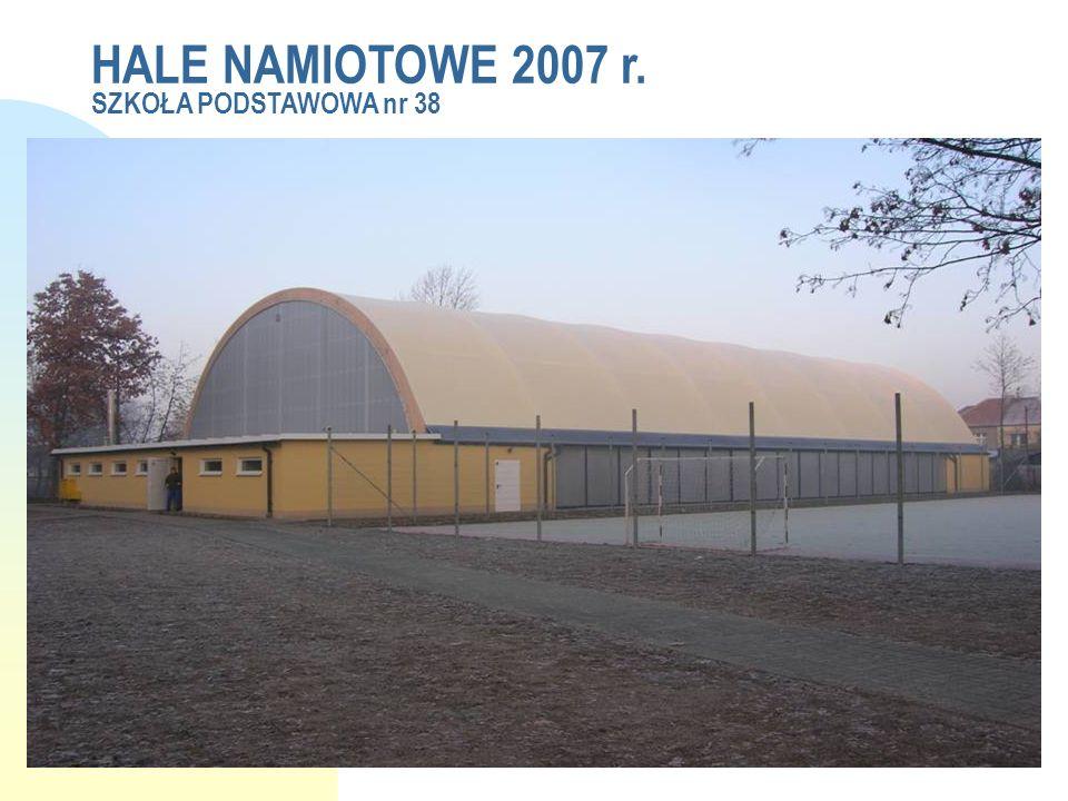 HALE NAMIOTOWE 2007 r. SZKOŁA PODSTAWOWA nr 38