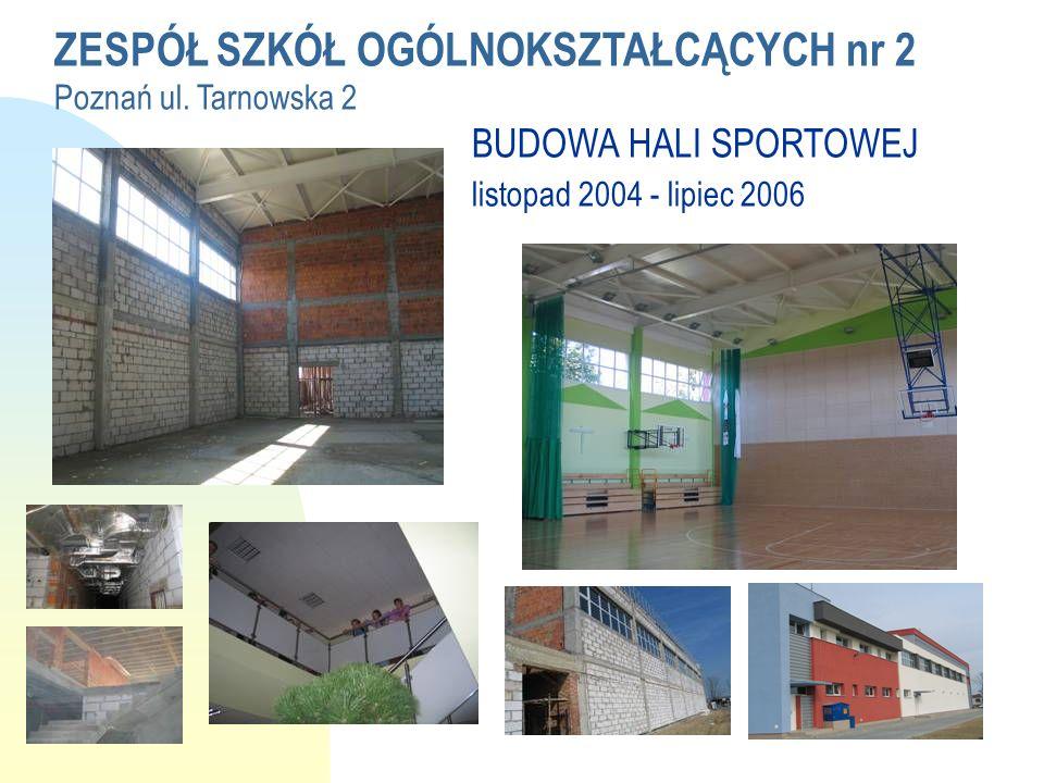 ZESPÓŁ SZKÓŁ OGÓLNOKSZTAŁCĄCYCH nr 2 Poznań ul. Tarnowska 2