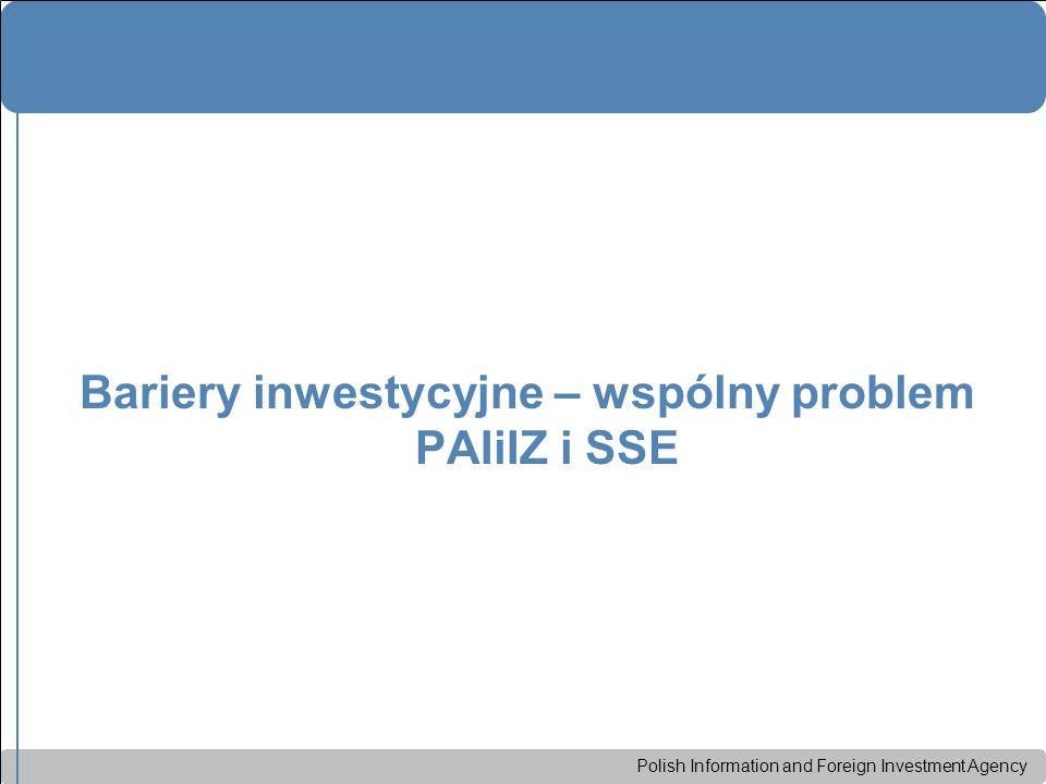 Polish Information and Foreign Investment Agency Bariery inwestycyjne – wspólny problem PAIiIZ i SSE