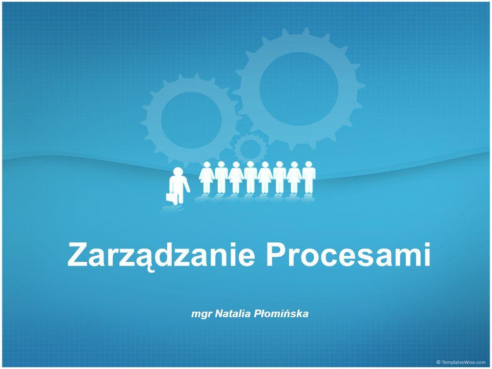Zarządzanie Procesami mgr Natalia Płomińska
