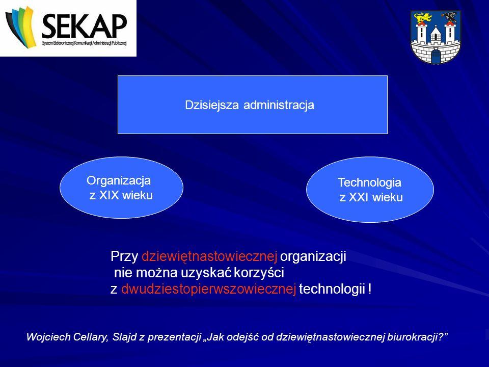 Ważnym środkiem powodującym podnoszenie jakości świadczonych usług jest oparcie organizacji pracy na narzędziach elektronicznych.