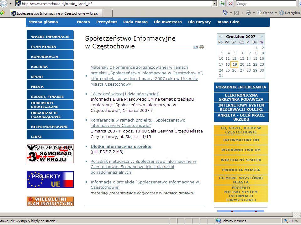 Elektroniczny obieg dokumentów OfficeObjects®DocMan został wdrożony we wszystkich wydziałach Urzędu Miasta Częstochowy - obecnie w systemie pracuje ponad 600 pracowników.