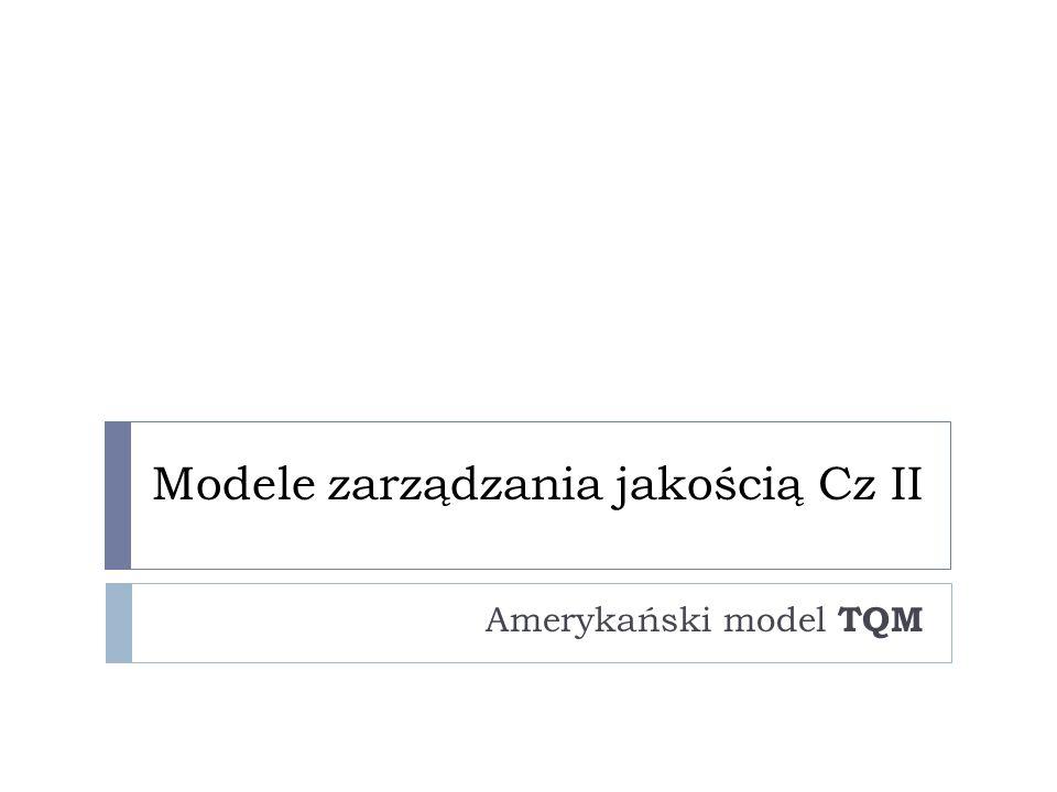 Modele zarządzania jakością Cz II Amerykański model TQM