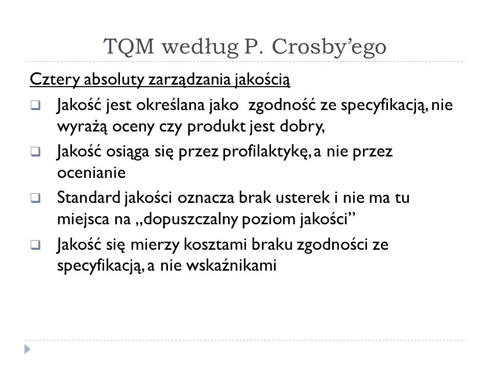 TQM według P.