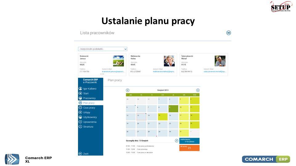 Ustalanie planu pracy