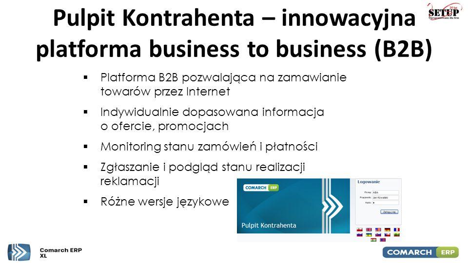 Pulpit Kontrahenta – innowacyjna platforma business to business (B2B)  Platforma B2B pozwalająca na zamawianie towarów przez Internet  Indywidualnie