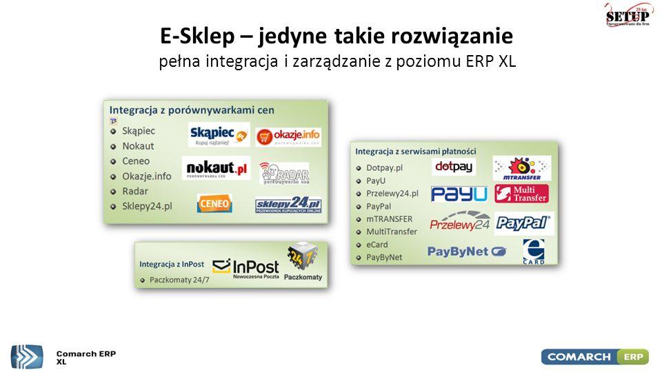 E-Sklep – jedyne takie rozwiązanie pełna integracja i zarządzanie z poziomu ERP XL