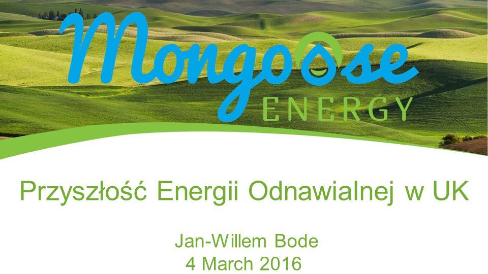 Przyszłość Energii Odnawialnej w UK Jan-Willem Bode 4 March 2016