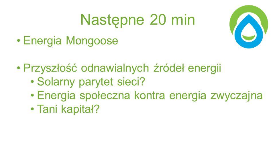 Następne 20 min Energia Mongoose Przyszłość odnawialnych źródeł energii Solarny parytet sieci.