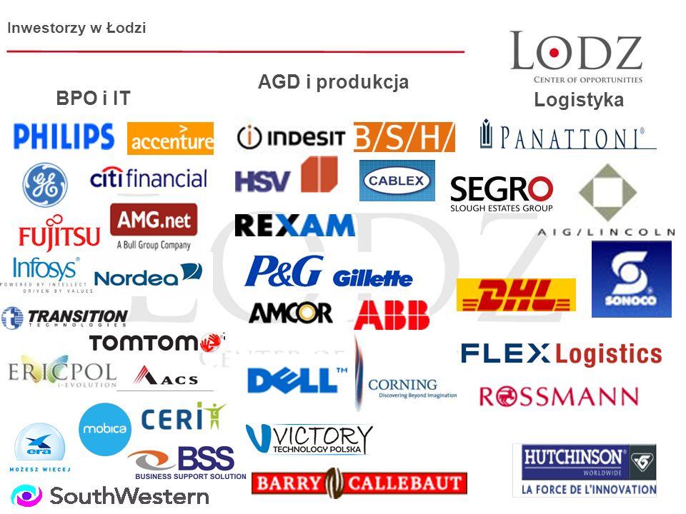 BPO i IT AGD i produkcja Logistyka Inwestorzy w Łodzi