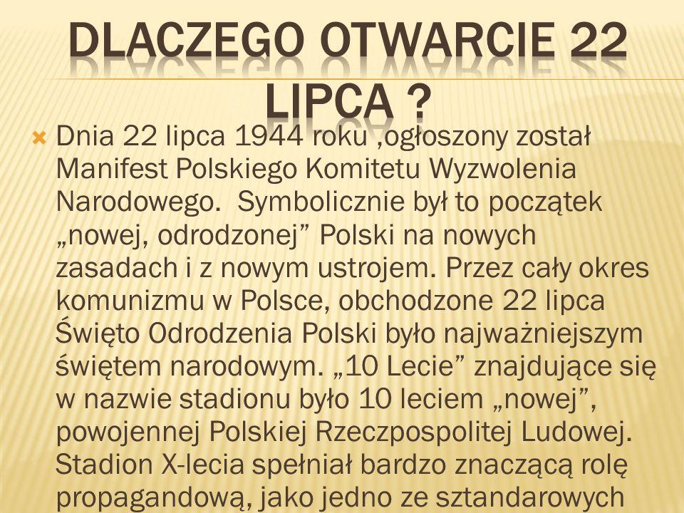 """ Po upadku komunizmu w Polsce w roku 1989 i przejściu od gospodarki planowej do wolnorynkowej, Stadion X- lecia również się przebranżowił, stając się gigantycznym targowiskiem, gdzie kwitł handel od naręcznego, przez łóżka polowe, namiotowe wiaty po kultowe już blaszane """"szczęki ."""