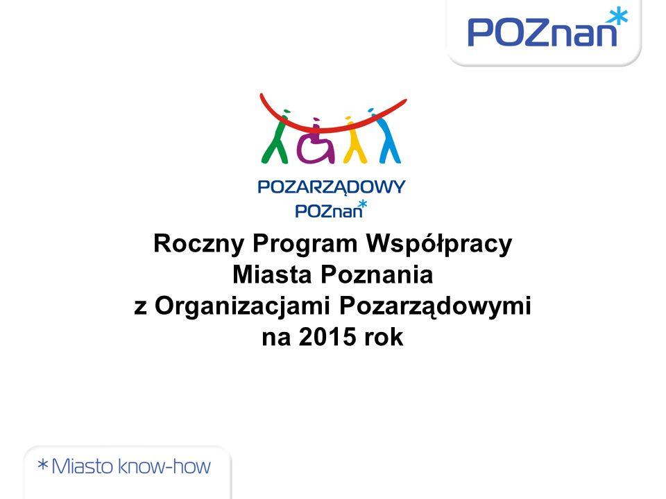 Roczny Program Współpracy Miasta Poznania z Organizacjami Pozarządowymi na 2015 rok