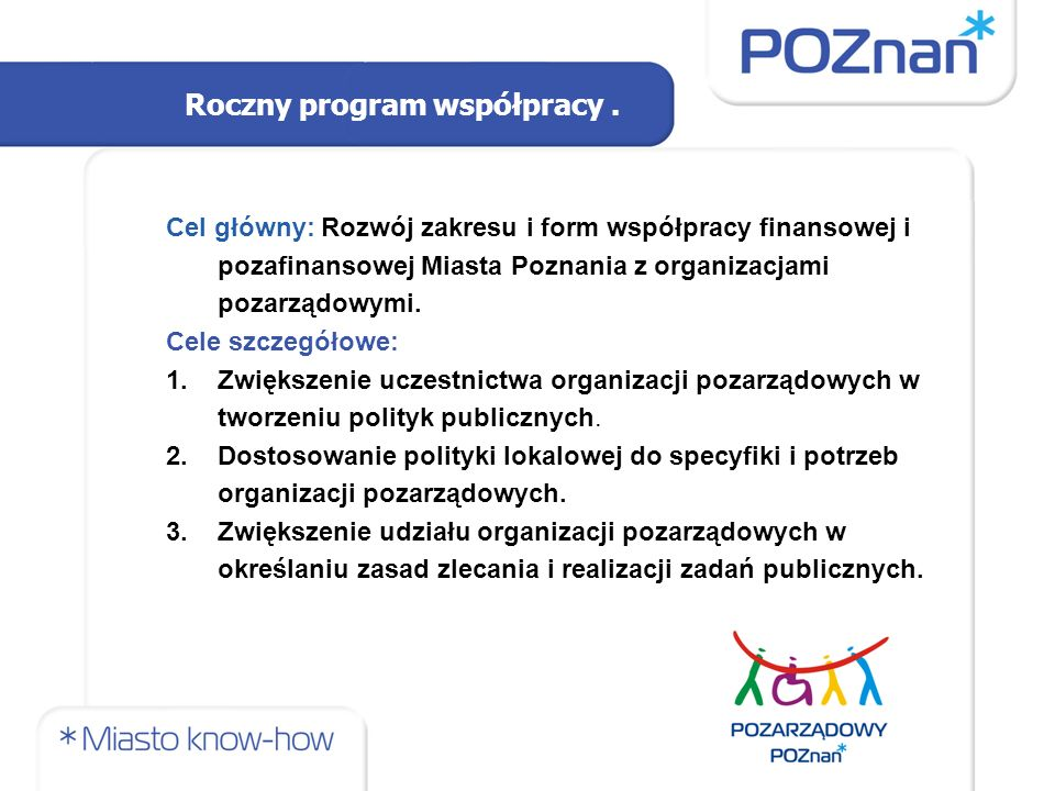 Roczny program współpracy.