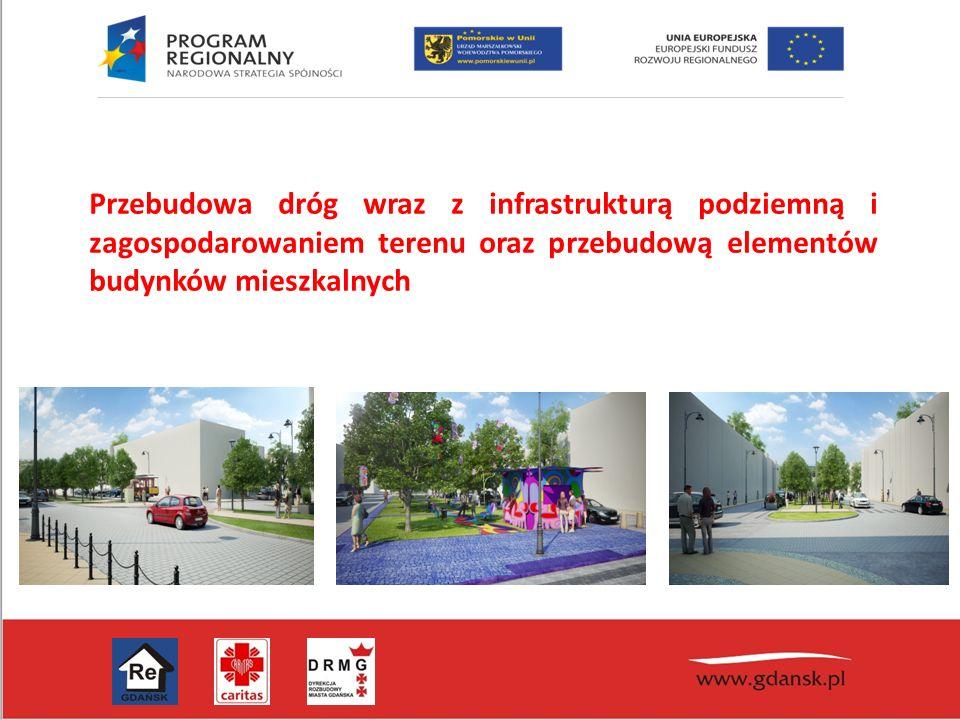 Przebudowa dróg wraz z infrastrukturą podziemną i zagospodarowaniem terenu oraz przebudową elementów budynków mieszkalnych