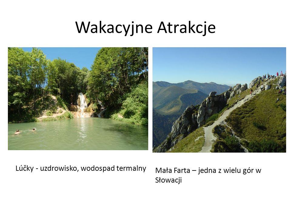 Wakacyjne Atrakcje Lúčky - uzdrowisko, wodospad termalny Mała Farta – jedna z wielu gór w Słowacji