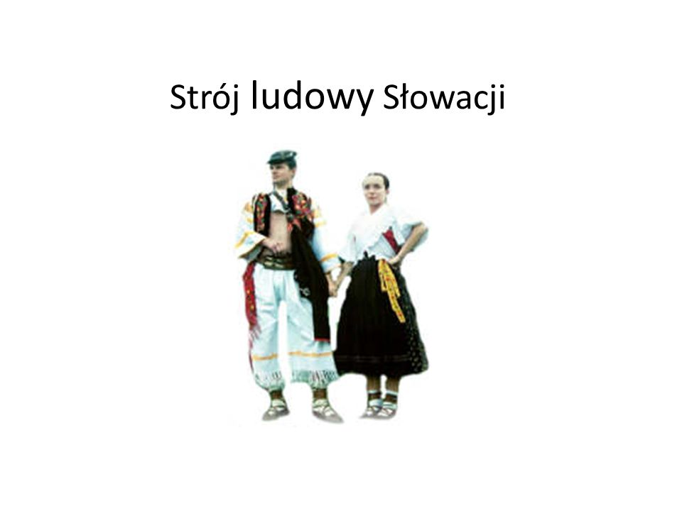 Strój ludowy Słowacji