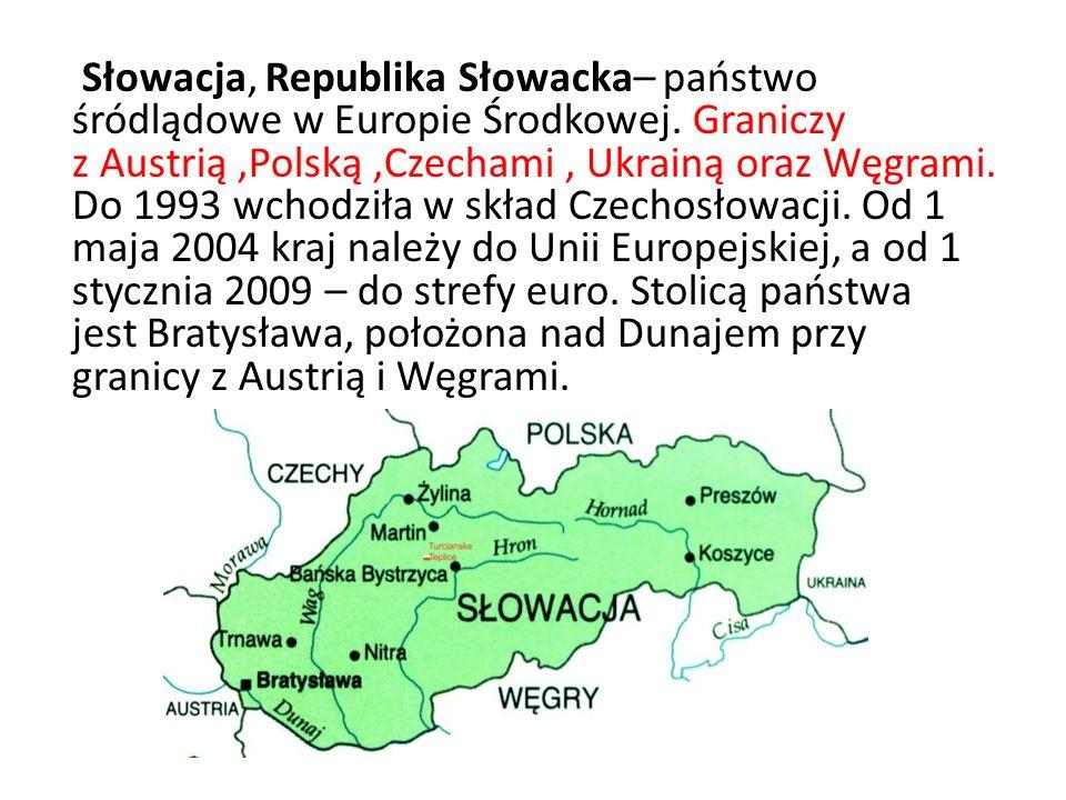 Rzeki Słowacji Wag (403 km) Hornad (193 km) Dunaj (172 km)