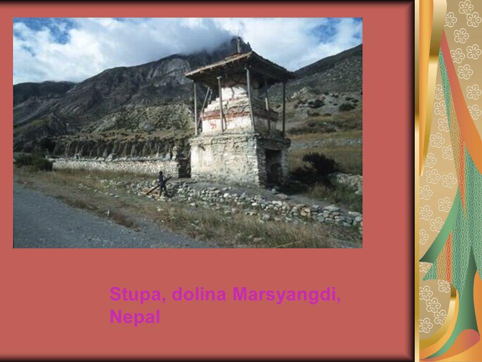 Stupa, dolina Marsyangdi, Nepal