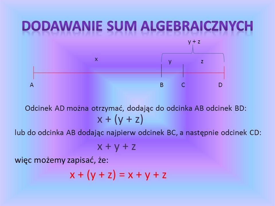 Zapisywanie wyrażeń algebraicznych w najprostszej postaci np.