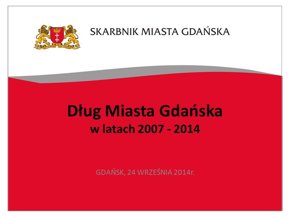 Dług Miasta Gdańska w latach 2007 - 2014 GDAŃSK, 24 WRZEŚNIA 2014r.