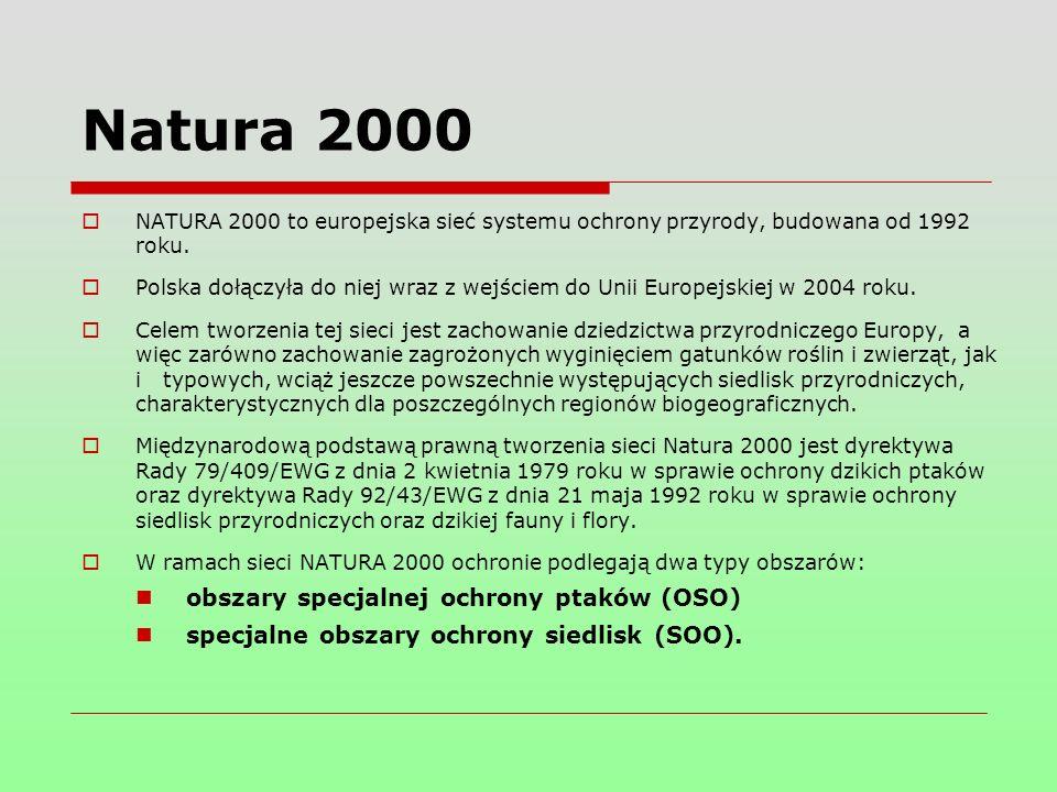  NATURA 2000 to europejska sieć systemu ochrony przyrody, budowana od 1992 roku.