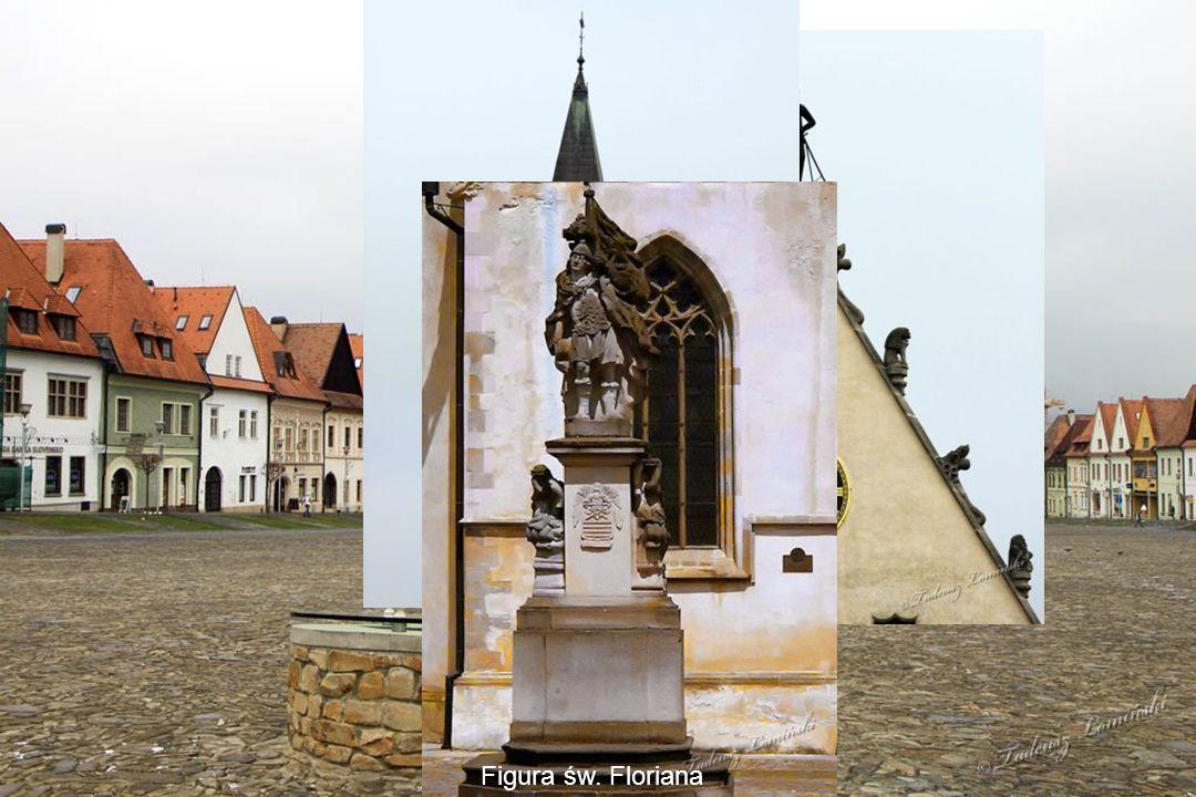 Ratusz z początku XVI wieku Figura św. Floriana