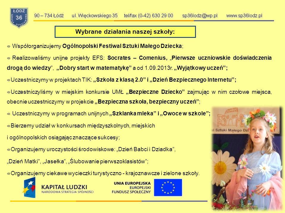 Po lekcjach proponujemy: 90 – 734 Łódź ul. Więckowskiego 35 tel/fax (0-42) 630 29 00 sp36lodz@wp.pl www.sp36lodz.pl  zajęcia wyrównawcze,  gimnastyk