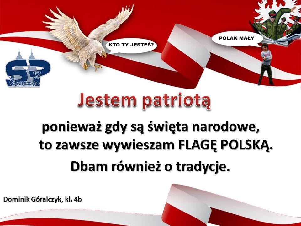 ponieważ gdy są święta narodowe, to zawsze wywieszam FLAGĘ POLSKĄ.