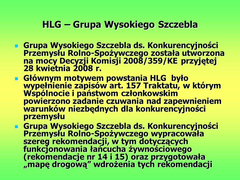 HLG – Grupa Wysokiego Szczebla Grupa Wysokiego Szczebla ds.