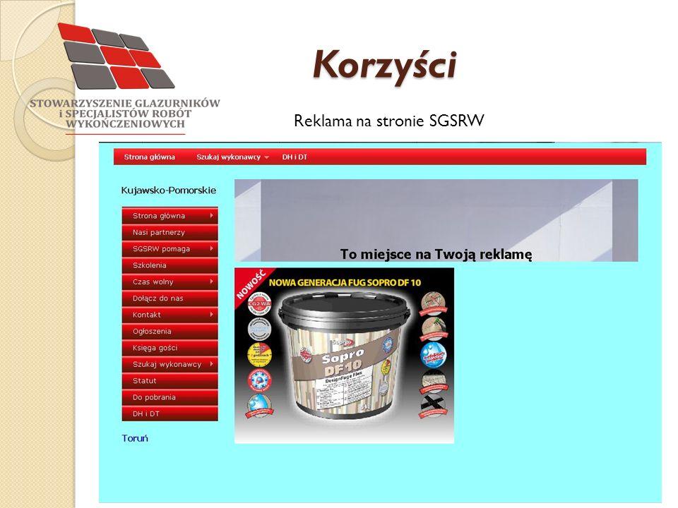 Korzyści Reklama na stronie SGSRW