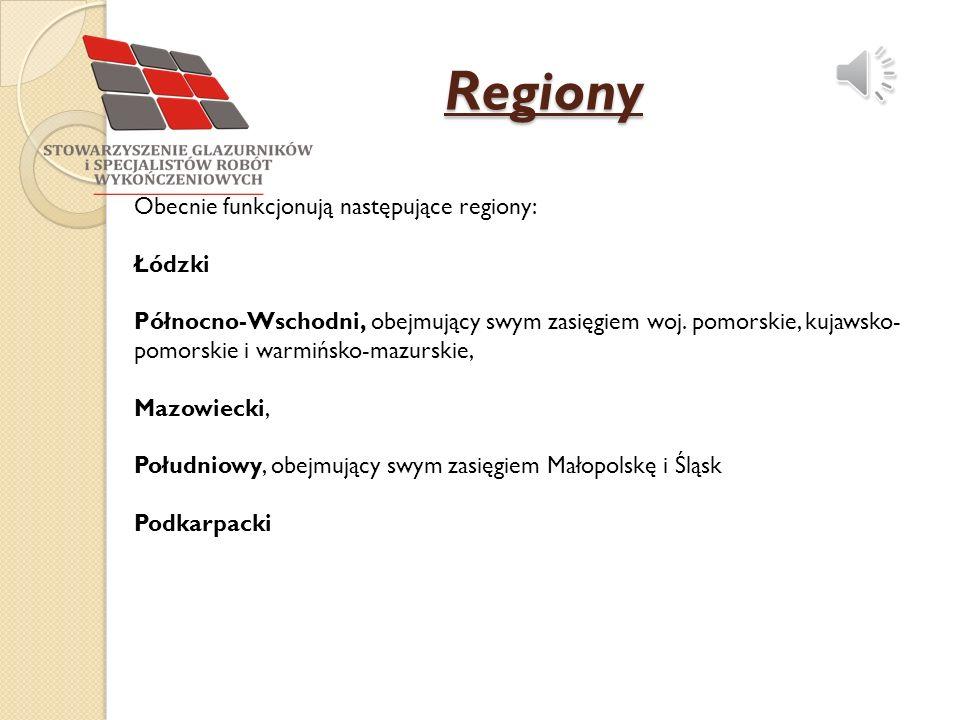 Regiony Obecnie funkcjonują następujące regiony: Łódzki Północno-Wschodni, obejmujący swym zasięgiem woj.