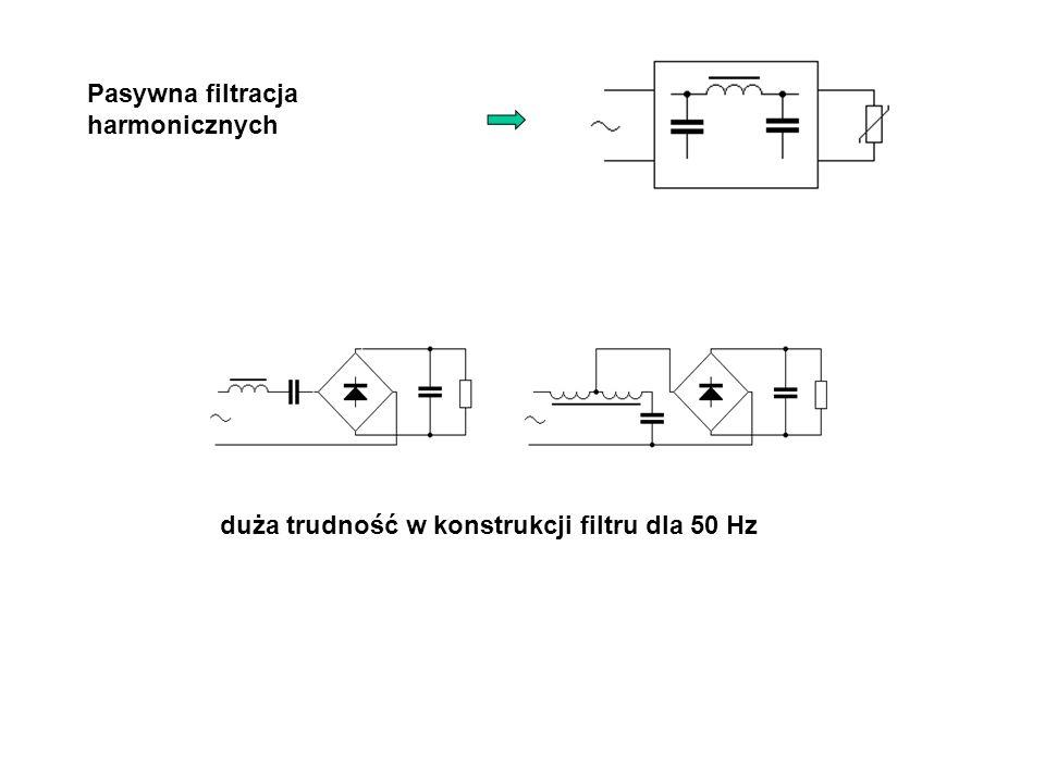 Pasywna filtracja harmonicznych duża trudność w konstrukcji filtru dla 50 Hz