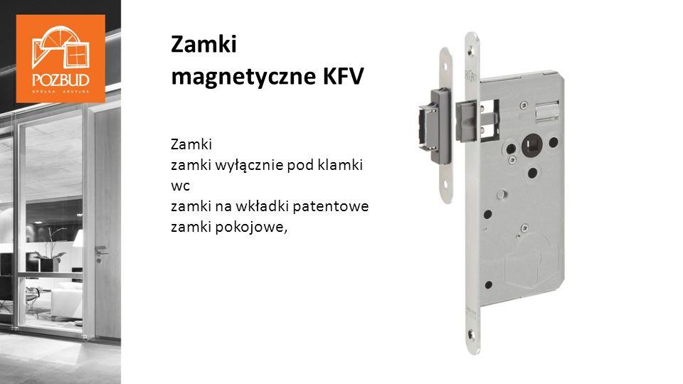 Zamki magnetyczne KFV Zamki zamki wyłącznie pod klamki wc zamki na wkładki patentowe zamki pokojowe,