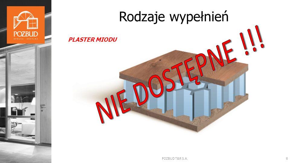 POZBUD T&R S.A.6 Rodzaje wypełnień PLASTER MIODU