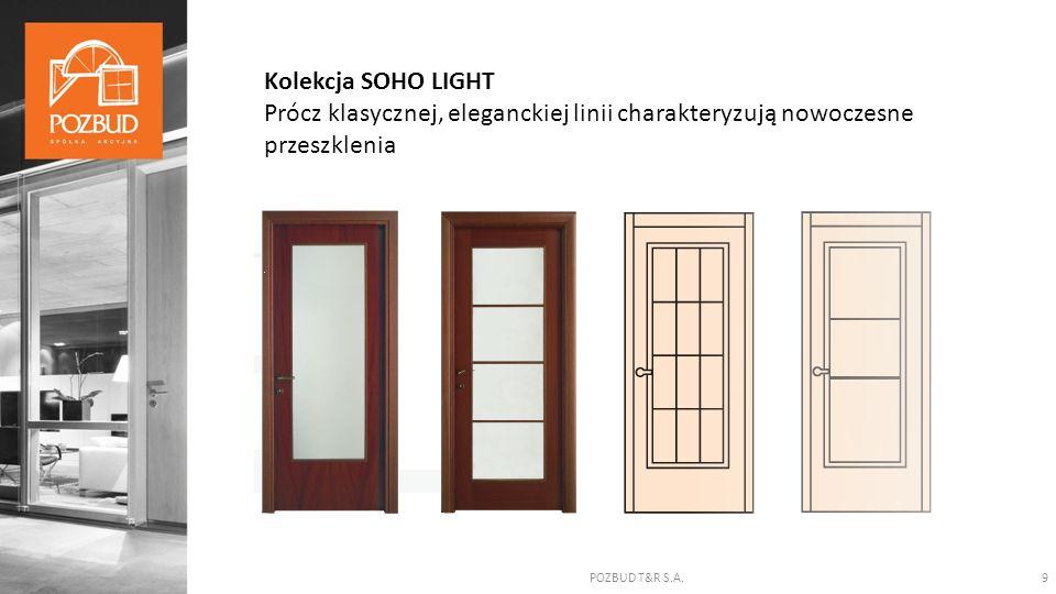 POZBUD T&R S.A.9 Kolekcja SOHO LIGHT Prócz klasycznej, eleganckiej linii charakteryzują nowoczesne przeszklenia
