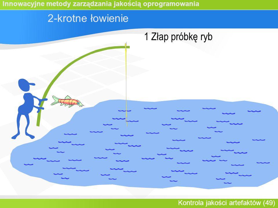 Innowacyjne metody zarządzania jakością oprogramowania Kontrola jakości artefaktów (49) 2-krotne łowienie 1 Złap próbkę ryb