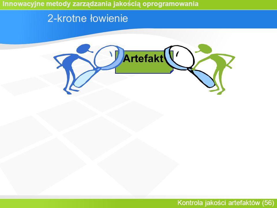 Innowacyjne metody zarządzania jakością oprogramowania Kontrola jakości artefaktów (56) 2-krotne łowienie Artefakt