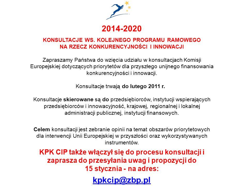 2014-2020 KONSULTACJE WS.