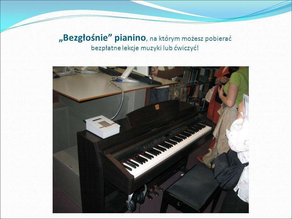 """""""Bezgłośnie pianino, na którym możesz pobierać bezpłatne lekcje muzyki lub ćwiczyć!"""