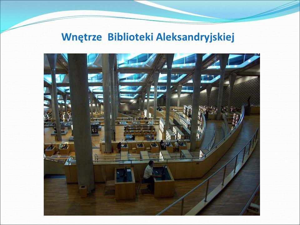 Biblioteka Aleksandia- została wzniesiona dla upamiętnienia starożytnej Biblioteki Aleksandryjskiej, która spłonęła w I wieku p.n.e..
