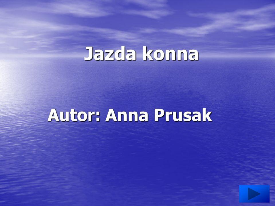 Jazda konna Autor: Anna Prusak