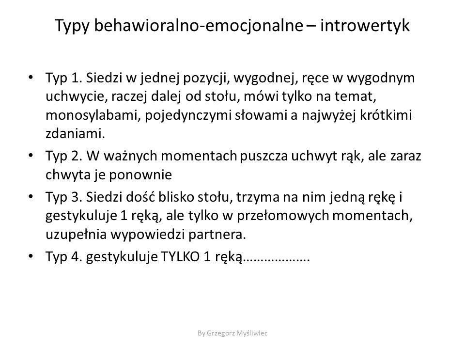 Typy behawioralno-emocjonalne – introwertyk Typ 1.